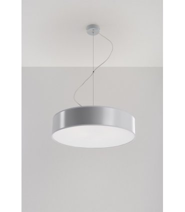 Lampa wisząca ARENA 45 szara