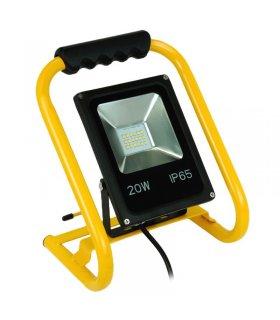 Naświetlacz LED 20W przenośny z uchwytem