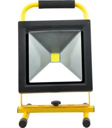 Naświetlacz LED 50W bezprzewodowy SLIM z akumulatorem (230V AC / 12V DC)