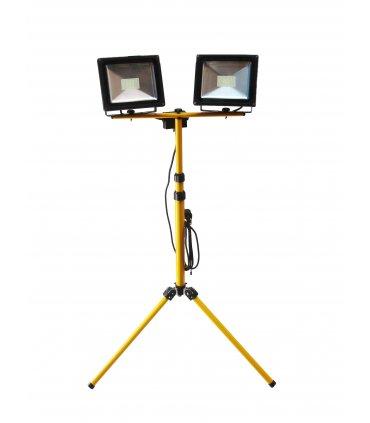 2 x Naświetlacz LED na podwójnym statywie (Tripod)