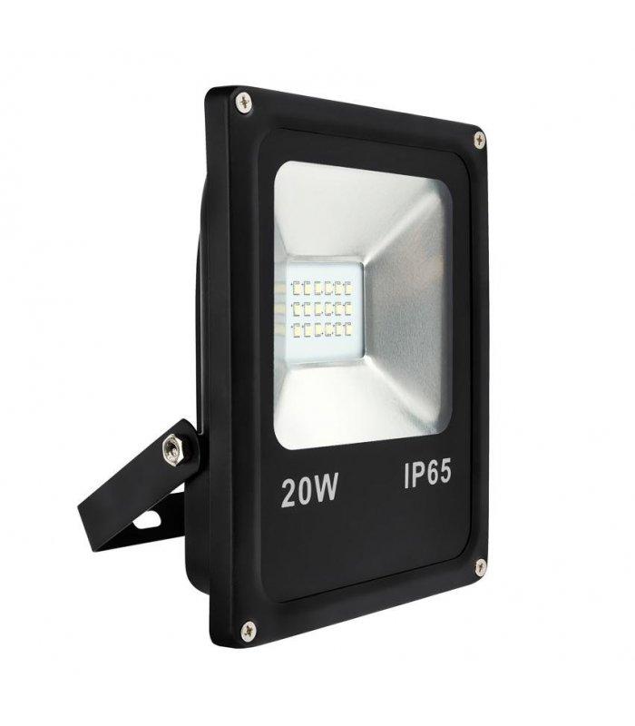 Naświetlacz LED 20W SLIM SMD Czarny Wodoodporny