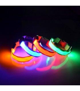 Świecąca Obroża LED (Czerwona) Full Color