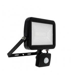 Naświetlacz LED 10W SUPER SLIM Czarny z czujnikiem zmierzchu i ruchu Wodoodporny