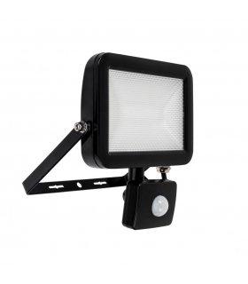 Naświetlacz LED 30W Super SLIM Czarny z czujnikiem zmierzchu i ruchu Wodoodporny