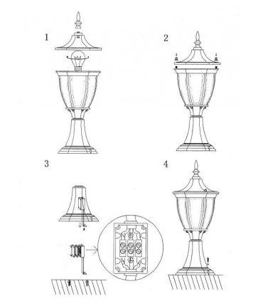Lampa JONNA 51cm Czarna