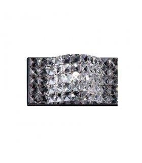 KINKIET / WALL LAMP METAL CHROME AND K9 CLEAR CRYSTAL
