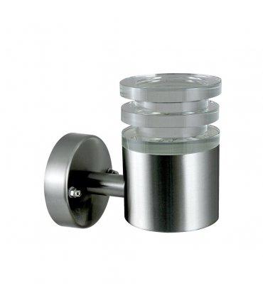 Kinkiet ogrodowy inox LED POLUX CRYSTAL2 GLM00052AUPSS-30DW prosty satynowy