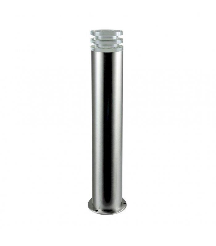 Lampa ogrodowa inox LED POLUX CRYSTAL2 GLM00052PSH56SS-30DW średnia satynowa