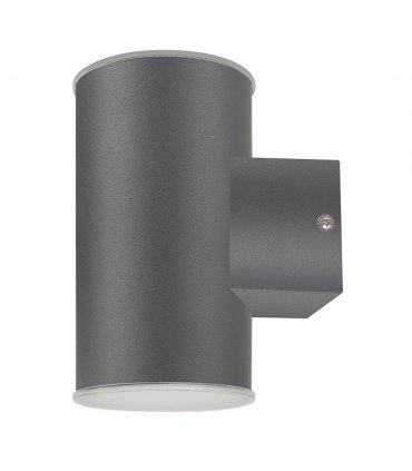 Kinkiet ogrodowy inox LED POLUX NIVERO GLM0004DN2GY-60DW prosty Up-Down grafitowy