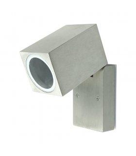 Kinkiet ogrodowtky aluminiowy POLUX BOSTON GLA51PW1SB 1xGU10 kierunkowy satynowy szczoowany