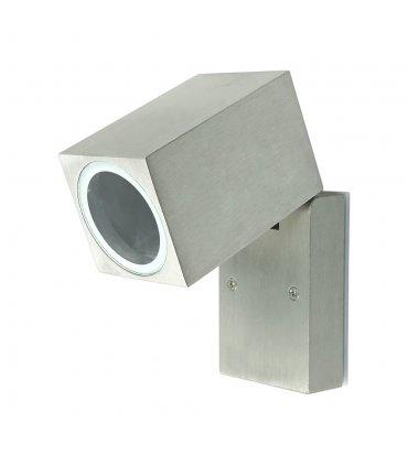 Kinkiet ogrodowy aluminiowy POLUX BOSTON GLA51PW1SB 1xGU10 kierunkowy satynowy