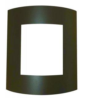 Plafon ogrodowy POLUX SAFON coffee SG1048BR 1xE27 stal nierdzewna