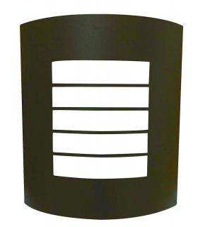 Plafon ogrodowy POLUX SAFON coffee SG1045BR 1xE27 stal nierdzewna
