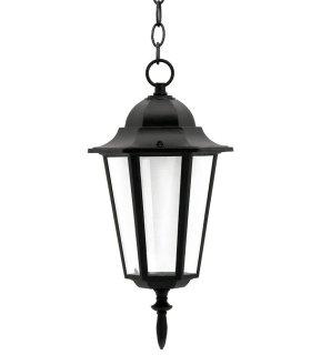 Lampa ogrodowa alum POLUX LIGURIA-LT GLA104LTHBK wisząca czarna