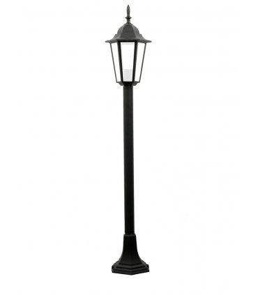 Lampa ogrodowa alum POLUX LIGURIA-LT GLA104LTMBK metrowa czarna