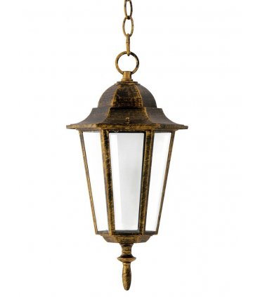 Lampa ogrodowa alum POLUX LIGURIA-LT GLA104LTHPT wisząca patyna