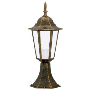 Lampa ogrodowa alum POLUX LIGURIA-LT GLA104LTLPT niska patyna