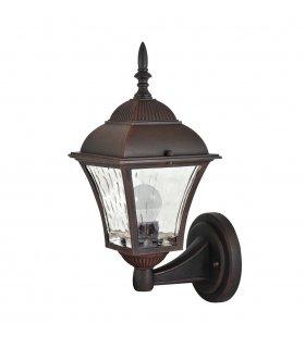 Lampa ogrodowa aluminiowa POLUX PARIS2 AL832DNWWAW2 2in1 dół wiśnia żarówką led w zestawie