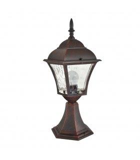 Lampa ogrodowa aluminiowa POLUX PARIS2 AL832LWWAW2 2in1 niska wiśnia żarówką led w zestawie