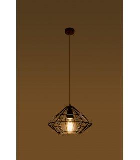 Lampa wisząca Umberto czarna SL.0294 Sollux