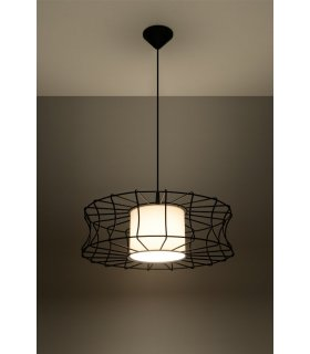Lampa wisząca Salerno czarna SL.0300 Sollux