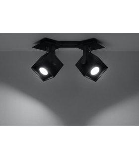 Plafon CEDRA 2 czarny SL.0320 Sollux