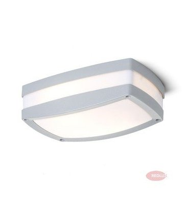 SONYA prostokątna srebrnoszara 2xE27 IP54 REDLUX