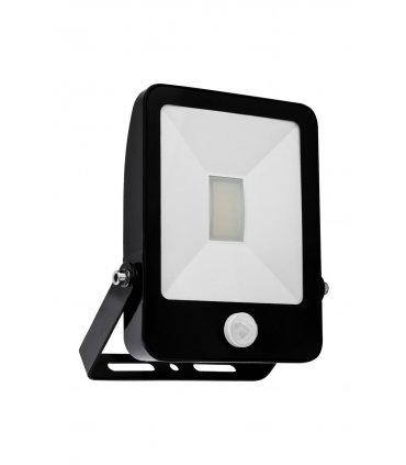 Naświetlacz LED 10W ULTRA SLIM Czarny z czujnikiem zmierzchu i ruchu Wodoodporny