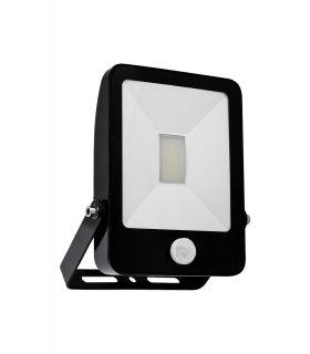 Naświetlacz LED 50W ULTRA SLIM Czarny z czujnikiem zmierzchu i ruchu Wodoodporny
