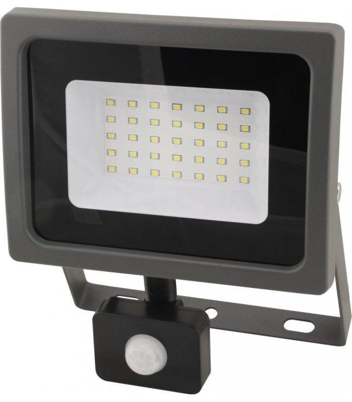Naświetlacz LED 30W SMD OXY z czujnikiem zmierzchu i ruchu Wodoodporny