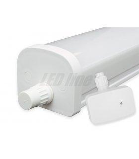 Lampa hermetyczna TRI-PROOF quick-plug IP65 20W 2000lm 175-265V AC z mikrofalowym czujnikiem ruchu