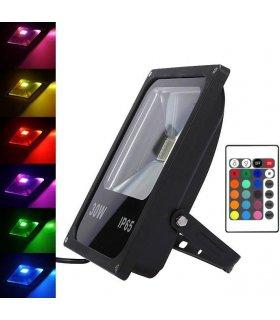 Naświetlacz LED 30W RGB MEMORY na pilota IR