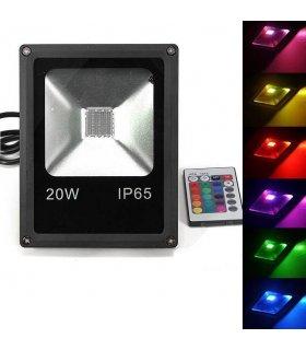 Naświetlacz LED 20W RGB MEMORY na pilota IR