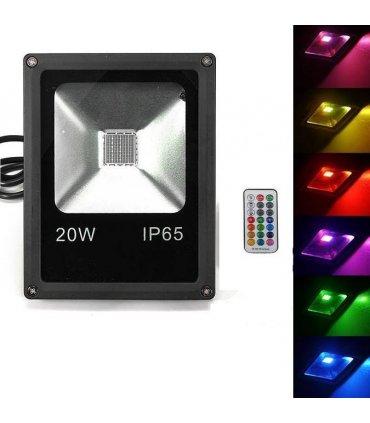 Naświetlacz LED 20W RGB MEMORY na pilota RF