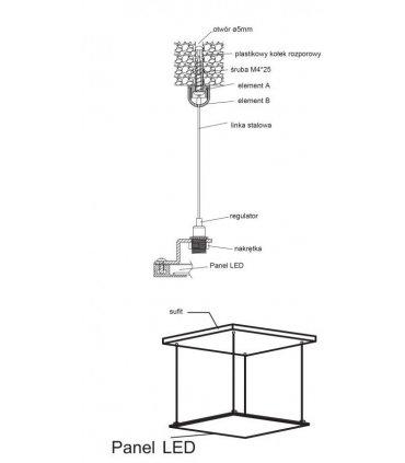 Zestaw montażowy do podwieszania panelu LP02