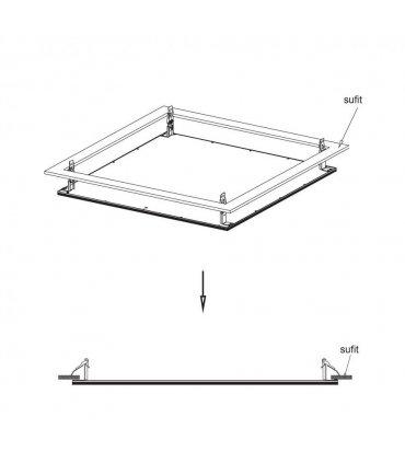 Zestaw montażowy do wbudowania do panelu LP02